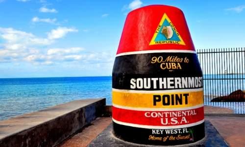 O que fazer em Key West - Marco das 90 milhas para cuba