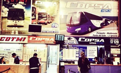 Como ir de Montevidéu a Punta del Este de ônibus? - copsa