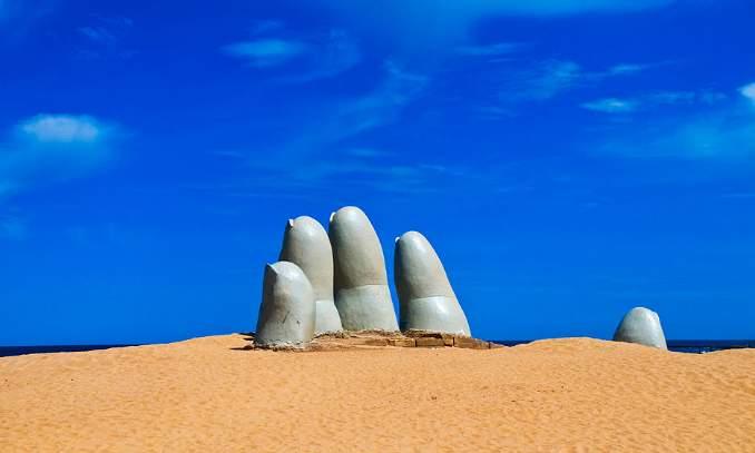 Monumento Los Dedos, Punta Del Este - Uruguai