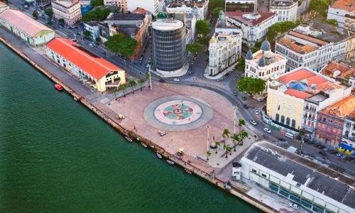 Pontos turísticos de Recife - marco zero do recife