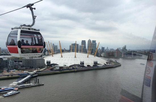 Pontos Turísticos em Londres- teleférico-de-londres