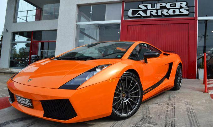 super carros - gramado - lamborguini laranja