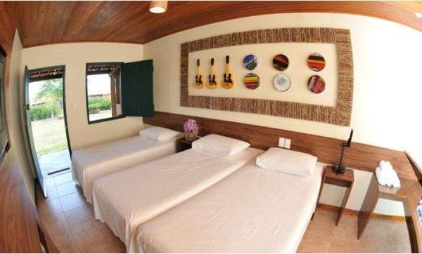 vista do quarto do hotel fazenda santa fe em bezerros