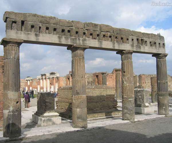 Ponto Turistico na Italia - Pompéia