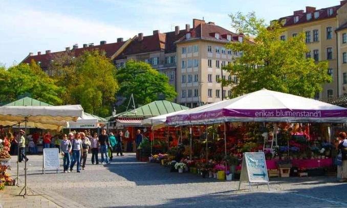 Viktualienmarkt - feira livre - restaurantes