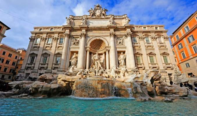 Melhores pontos turísticos em Roma - Fonte de Trevi