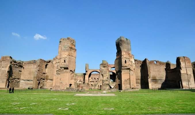 Melhores pontos turísticos em Roma - Termas de Caracalla